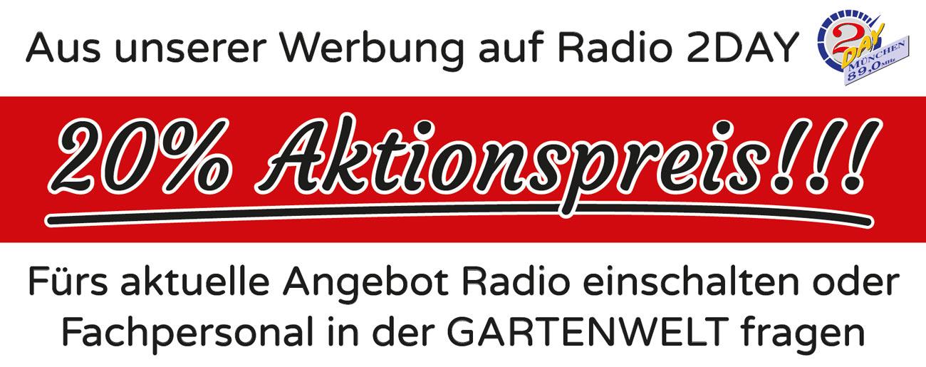 Gartenwelt-Werbung auf Radio 2Day